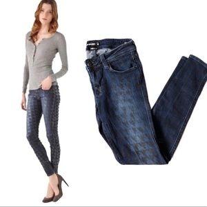 """Genetic Denim """"The Shya"""" Print Coated Skinny Jeans"""